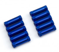 3x13mm alu. peso leggero supporto rotondo (blu)