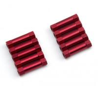 3x20mm alu. peso leggero basamento rotondo (rosso)