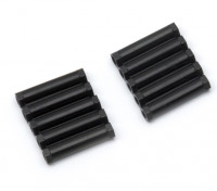 3x24mm alu. peso leggero basamento rotondo (nero)