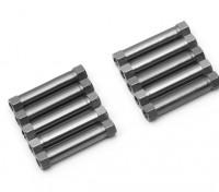 3x26mm alu. peso leggero supporto rotondo (titanio)