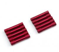 3x29mm alu. peso leggero basamento rotondo (rosso)