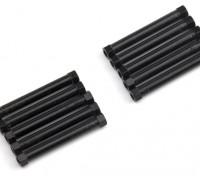 3x38mm alu. peso leggero basamento rotondo (nero)