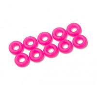 2 in 1 kit di O-ring (neon rosa) -10pcs / bag