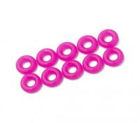 2 in 1 kit di O-ring (neon viola) -10pcs / bag