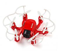 SPIDER MINI DRONE 4CH 6 AXIS GYRO 3D FLY RC HEXACOPTER con 2MP HD CAMERA (Red)