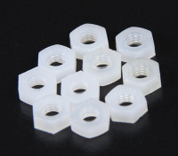 M3 Nylon Nut (10pcs / bag)