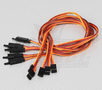 60CM Servo di piombo Extention (JR) con gancio 26AWG (5pcs / bag)