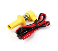 Lock-On Glowclip con Lead & Morsetti a coccodrillo (giallo)