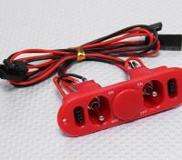 Heavy Duty Interruttore RX doppia con carica Port & Fuel Red Dot