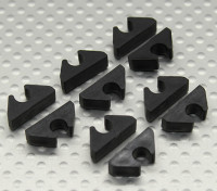 Air Line Linea / carburante / Cable Clip in ordine per cinque millimetri OD (10pc)