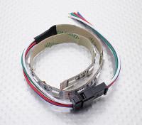 LED rosso, verde, blu (RGB) striscia di 25 centimetri w / Cavetto volante