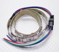 LED rosso, verde, blu (RGB) striscia di 50 centimetri w / Cavetto volante