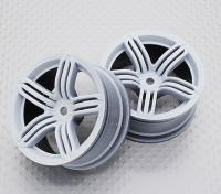 Scala 1:10 di alta qualità Touring / Drift Wheels RC 12 millimetri Hex (2pc) CR-RS6W