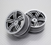 Scala 1:10 di alta qualità Touring / Drift Wheels RC 12 millimetri Hex (2pc) CR-RS6S