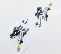 Nose Art Sticker - Gotcha bambino L / R mano