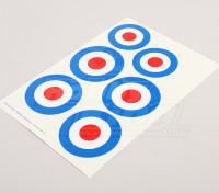 Scala nazionale Air Force Insignia Sticker Sheet - UK (Tipo A)