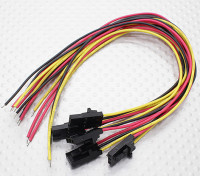 3 pin maschio spina Molex con giallo / rosso / 20cm nero con filo PVC 26AWG (5pcs / bag)
