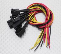 Molex a 3 pin Connettore femmina Cavo con 220 millimetri x 26AWG Wire.