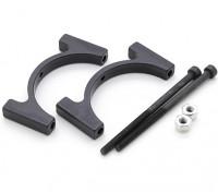 Anodizzato nero di alluminio di CNC del tubo morsetto 30 mm di diametro