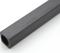 Piazza in fibra di carbonio Tubo 10 x 10 x 250 millimetri
