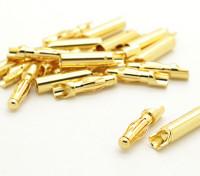4mm facile saldare oro Connettori (10 coppie)