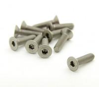 Titanium M3 x 12mm esagono incassato Vite (10pcs / bag)