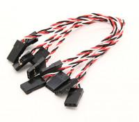 Super Flex 26AWG silicone Servo cavi per il trasferimento delle vibrazioni minimo per l'FC (JR) 130mm 5pcs / bag
