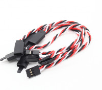 Ritorto 15 centimetri Servo Extention piombo (Futaba) con gancio 22 AWG (5pcs / bag)