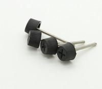 Nylon capo M2x20mm metallo Thumbscrew Per Gimbal Gopro Monte (4 pezzi)