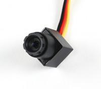 Mini CMOS FPV Camera 520TVL 90 gradi campo visivo 0.008Lux 11.5 x 11.5 x 21 millimetri (PAL)