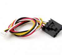 200 millimetri di 5 Pin Molex / JR a 4 pin connettore bianco di piombo