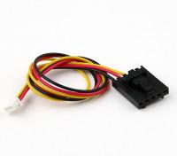 200 millimetri di 5 Pin Molex / JR a 3 pin del connettore bianco di piombo