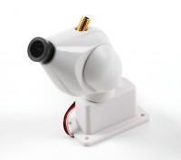 HD FPV sistema di telecamere con 32CH 5.8GHz trasmettitore e il Pan e la funzione di inclinazione (bianco)