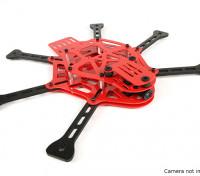 Dipartimento Funzione Pubblica Thorax limitata ROSSO Edizione mini FPV Hex multi-rotore Kit Telaio (Red)