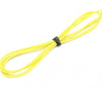 Turnigy alta qualità 24AWG silicone Filo 1m (Giallo)