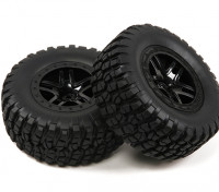 1 / 10th scala 5 razze Short Course Spalato Stile Truck Wheels & Tyres (2pc)