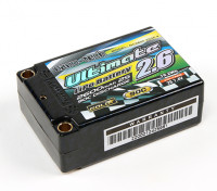 Turnigy nano-tech ultima 2600mAh 2S2P 90C Hardcase Lipo Super Shorty Pack (ROAR e BRCA approvato)