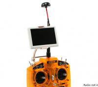 5 pollici 800x480 a 5,8 GHz Piccolo pilota HD FPV Monitor con funghi antenna e la staffa