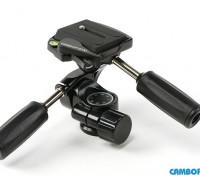 Cambofoto HD36 3Way sistema Panhead per la macchina fotografica Tri-Pod