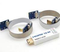 RCD 3015 Mini HDMI a AV Port Converter