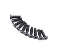 Metallo a testa piatta macchina Vite Esagonale M2.6x10-10pcs / set