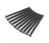 Metallo a testa piatta macchina Vite Esagonale M3x40-10pcs / set