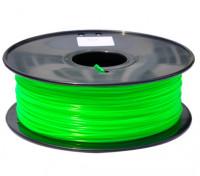 Dipartimento Funzione 3D filamento stampante 1,75 millimetri PLA 1KG spool (verde fluorescente)