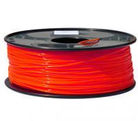 Dipartimento Funzione 3D filamento stampante 1,75 millimetri PLA 1KG spool (Fluorescent Red)