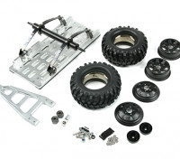 Trailer 1/10 SCX10 metallo (Kit)
