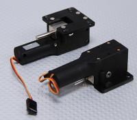 Servoless Ritrarre con Metal Snodo 33 millimetri x 35mm Monte (2pc)