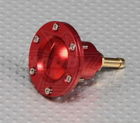 CNC Lega Fuel Filler Port su larga scala modelli a gas / turbina (combustibile Dot - Red)
