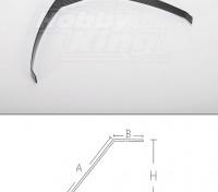 carrello di atterraggio in fibra di carbonio (formato 15cc)