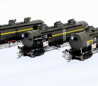 Southern Rail HO Scale VIC/BP VTQF Series 3 Car Oil Tank Set (Victoria/BP 1992)