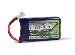 Turnigy Nano-Tech 600mAh 1S 25C Lipo Pack w/ Walkera